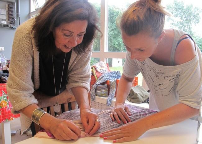 mending a blouse