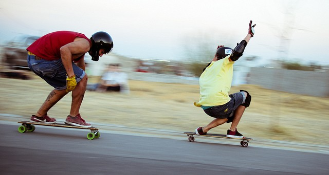 skateboarding downhill