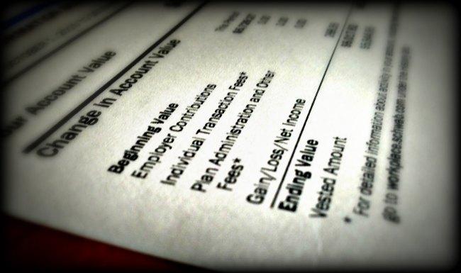 401k balance and fees