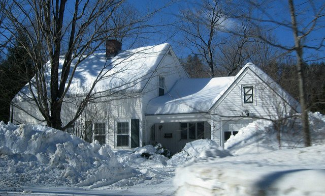 snowed in house