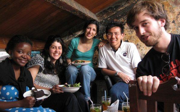 friends in a coffeeshop
