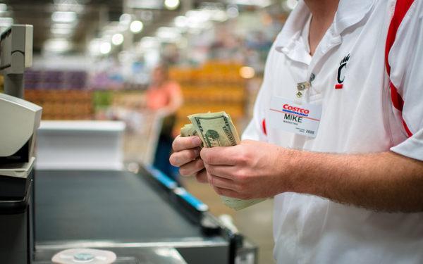 costco checkout paying