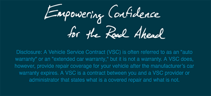 Disclaimer Screenshot for Extended Warranties