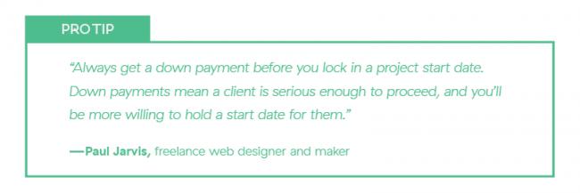 Freelancer Deposit