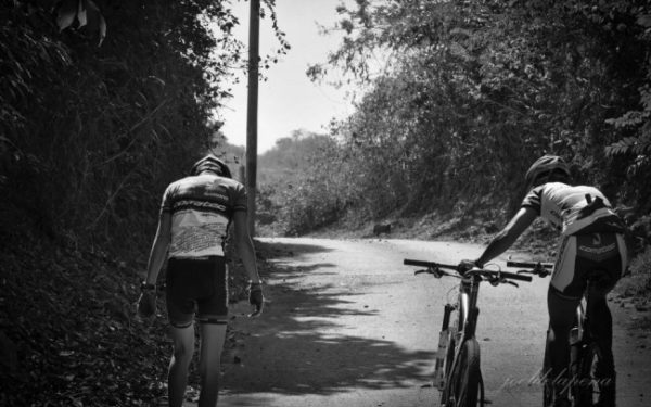 tired bicyclists