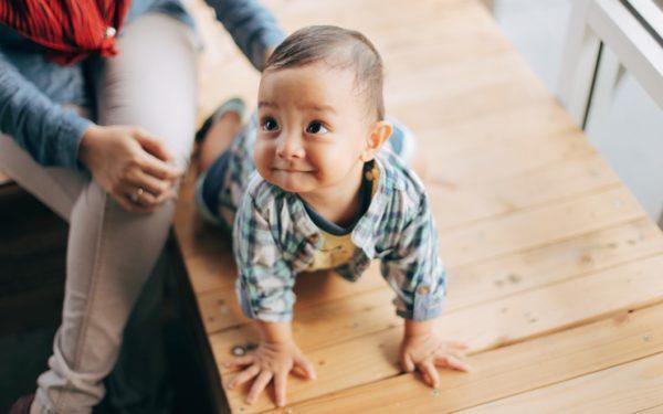child crawling