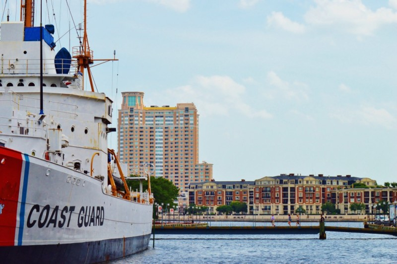 coast guard ship in baltimore harbor