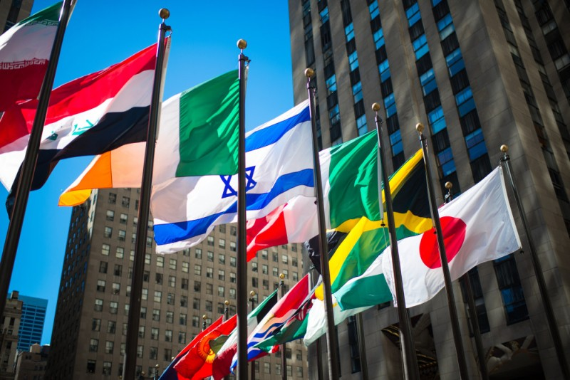 international investing - country flags
