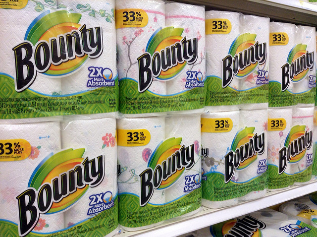 bounty paper towels at grocery store