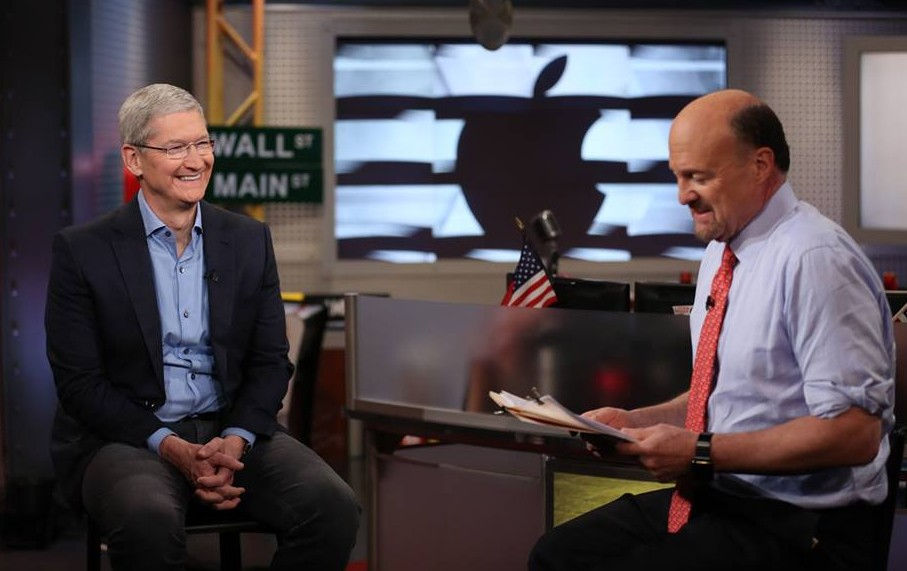 jim cramer and apple ceo tim cook on CNBC