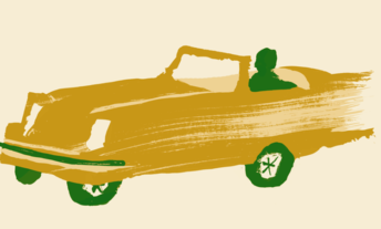 painting of fast car