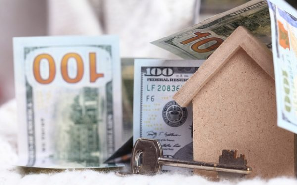 cash-out refinance mortgage house with money