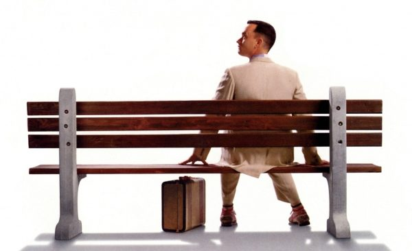 forrest gump with small suitcase