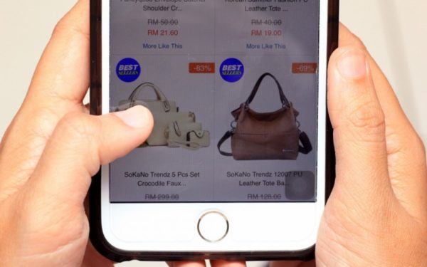 shopping on mobile phone