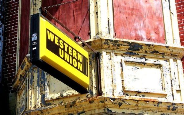 how to wire money - western union sign
