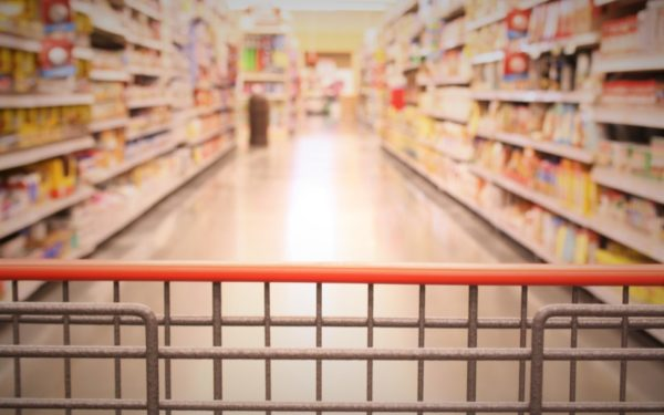 grocery store shopping cart - save money at the grocery store