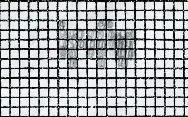 graph paper partially filled in
