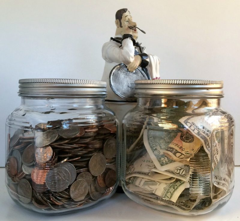 savings jars - 529 vs. roth ira for college savings