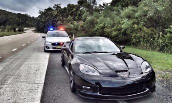 police car and sports car - high risk car insurance and non standard insurance