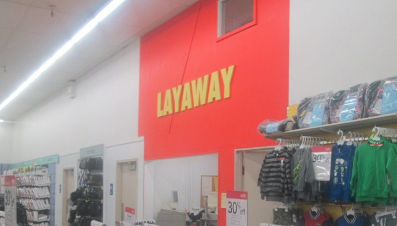 layaway counter at kmart