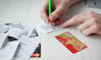 credit card receipts - credit utilization rate