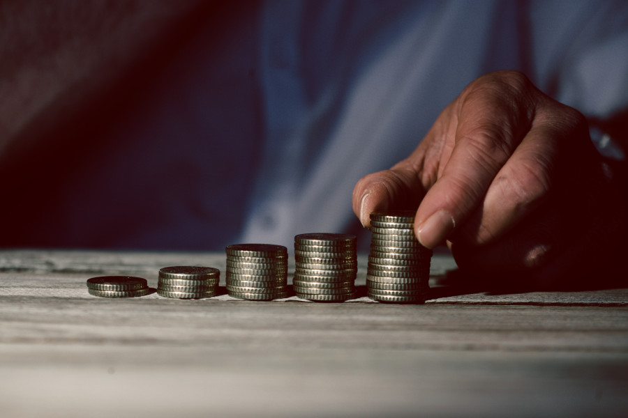 investing - stacking coins