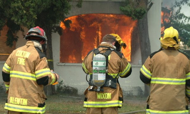 firefighters at home on fire - insurance
