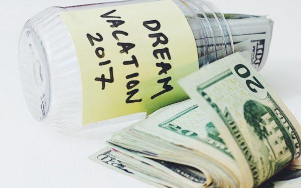 money in jar vacation fund