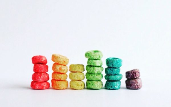 fruit loops stacked in bar graph - index investing
