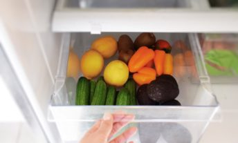 vegetables in a refrigerator