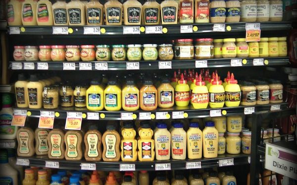 mustard in grocery store - paradox of choice