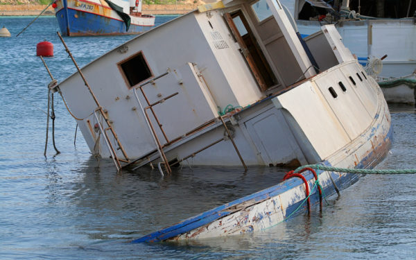 sinking boat in harbor - hidden retirement fees can sink your 401k