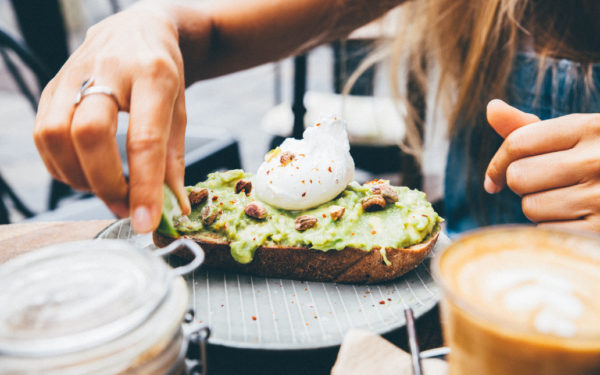 avocado toast and coffee