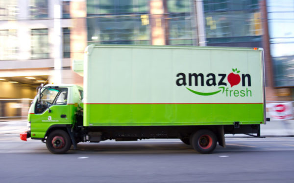amazon fresh delivery truck - costco vs amazon fresh