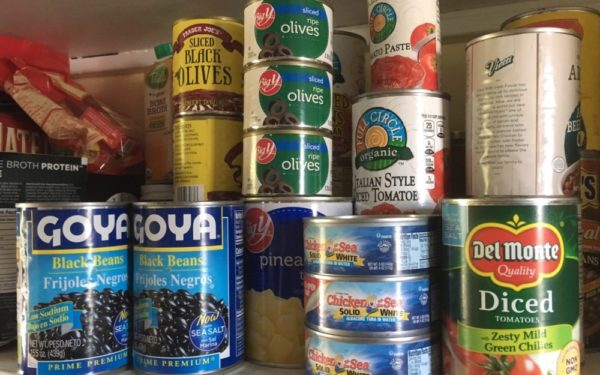 pantry full of canned food