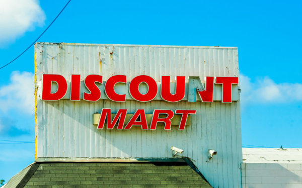 discount mart sign - discounting the future for short term thinking