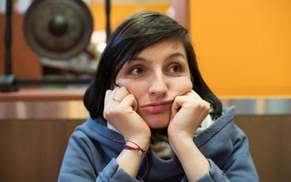 bored woman waiting
