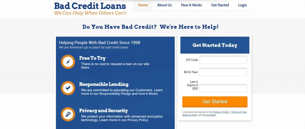 Loans For Really Bad Credit >> Badcreditloans Com Personal Loans Review The Simple Dollar