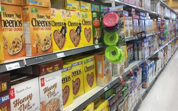 cheerios at the grocery store