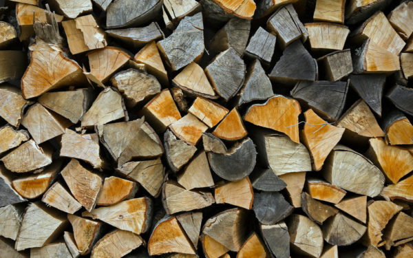 stacked firewood for wood stove pellet stove or fireplace
