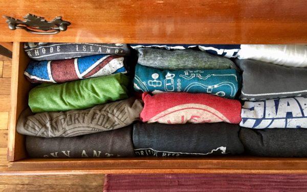 organized dresser drawer