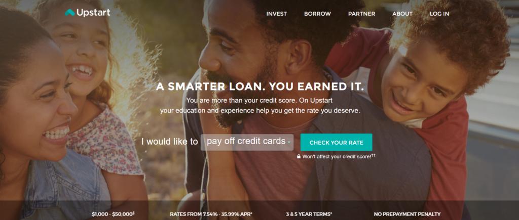 Upstart Personal Loans Reviews