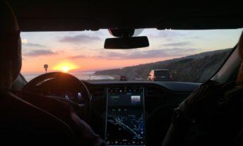 driving a tesla autonomous cars and car insurance