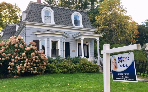 home for sale with sign out front - secrets of successful homebuyers