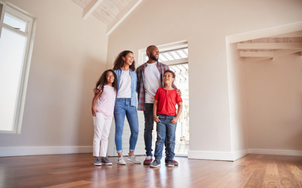 family viewing empty house first time homebuyers home insurance