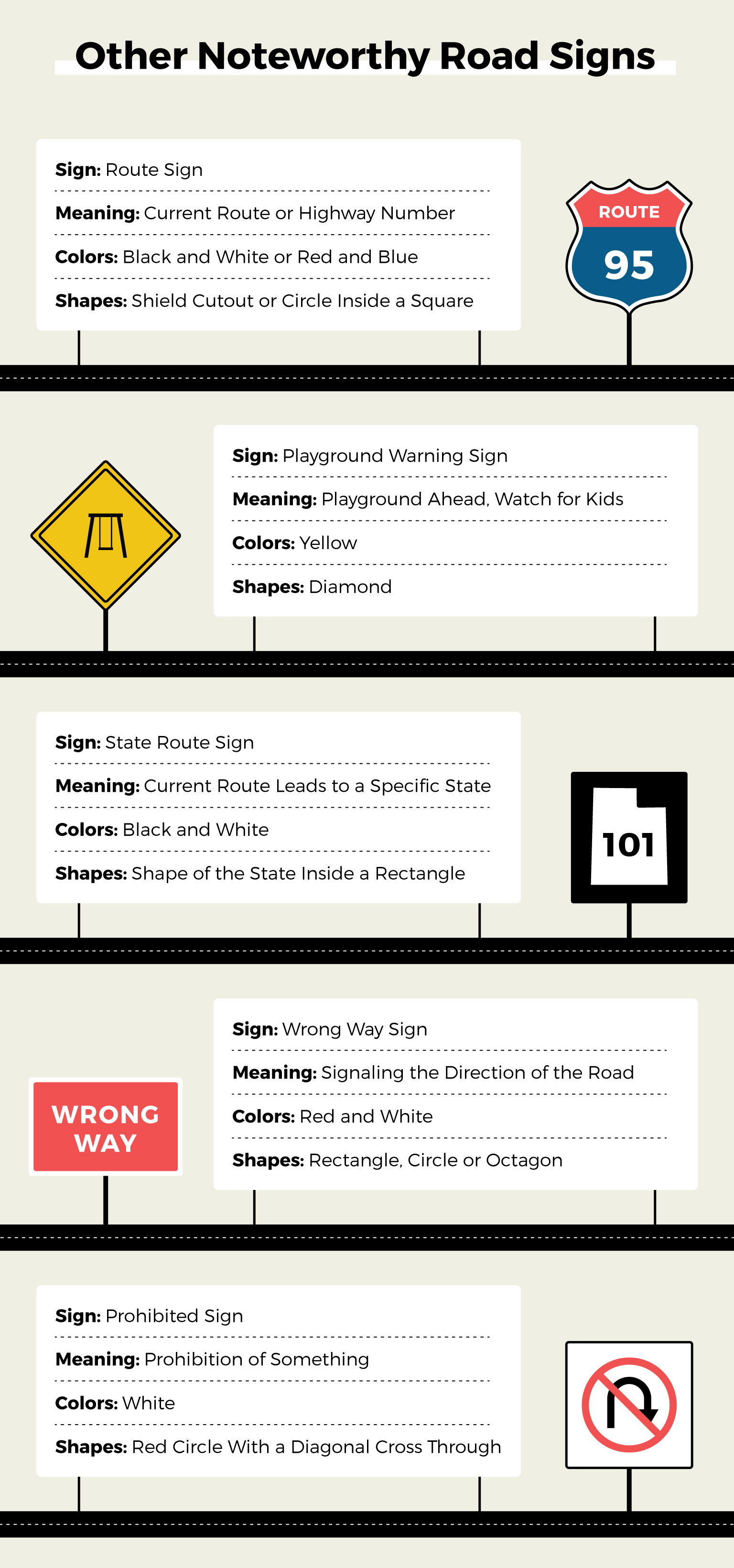 misc road signs to be aware of