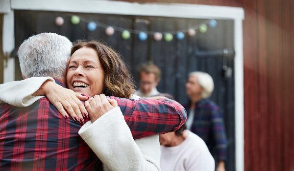 Family members hugging
