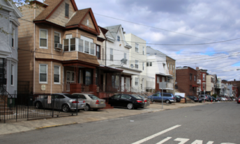Strip of houses in New Jersey